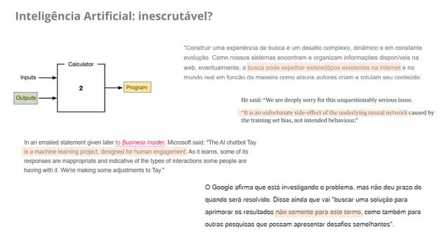 Inteligência Artificial: inescrutável?