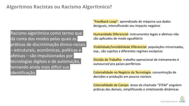 """Algoritmos Racistas ou Racismo Algorítmico? """"Feedback Loop"""": aprendizado de máquina usa dados desiguais, intensificando se..."""