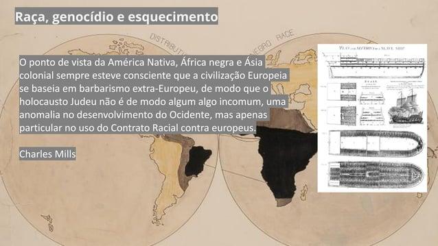 Raça, genocídio e esquecimento O ponto de vista da América Nativa, África negra e Ásia colonial sempre esteve consciente q...