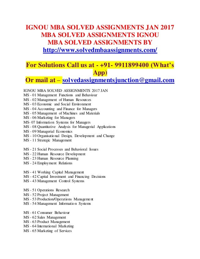 mba solved assignment papers We are the best solution providers for cbse papers , ignou , mba paper, mca assignments,bca papers solved & ignou assignments and papers.