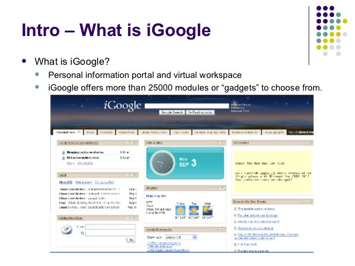 iGoogle Gadgets @ Your Library Slide 2