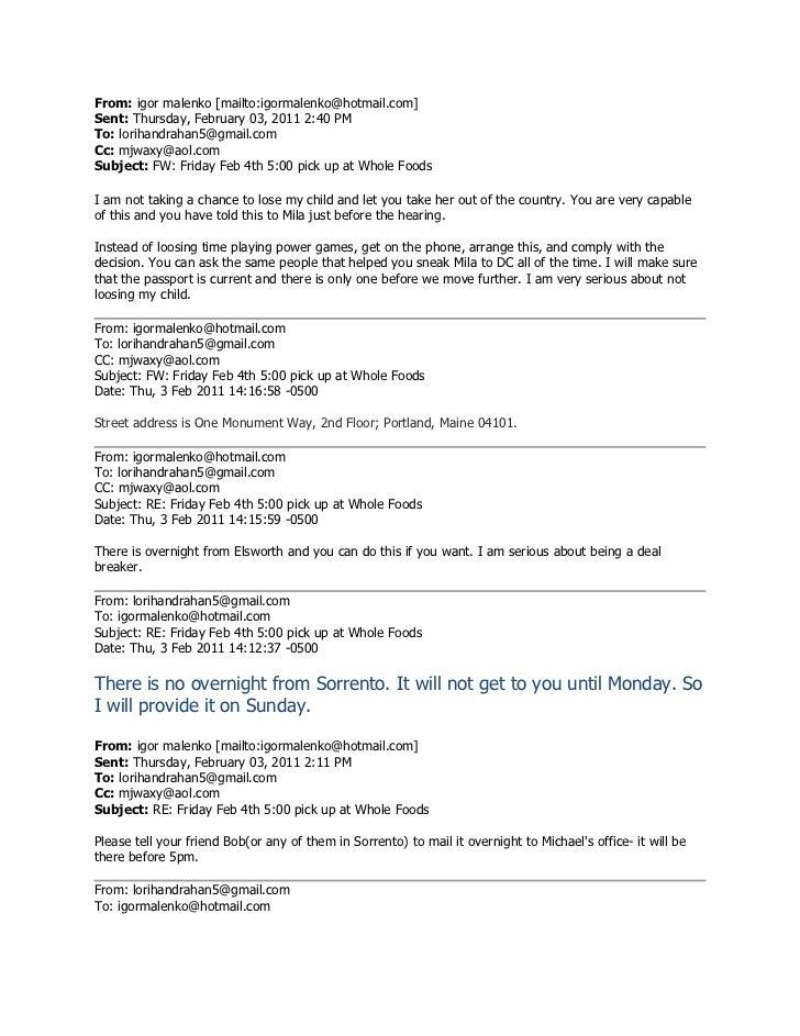 From: igor malenko [mailto:igormalenko@hotmail.com]Sent: Thursday, February 03, 2011 2:40 PMTo: lorihandrahan5@gmail.comCc...