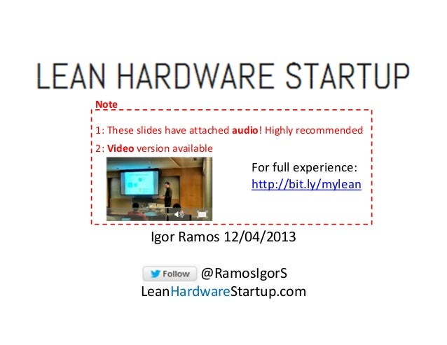 Note 1: These slides have attached audio! Highly recommended 2: Video version available  For full experience: http://bit.l...