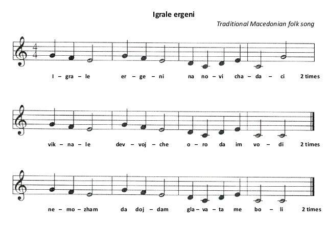I – gra – le er – ge – ni na no – vi cha – da – ci 2 times Igrale ergeni Traditional Macedonian folk song vik – na – le de...