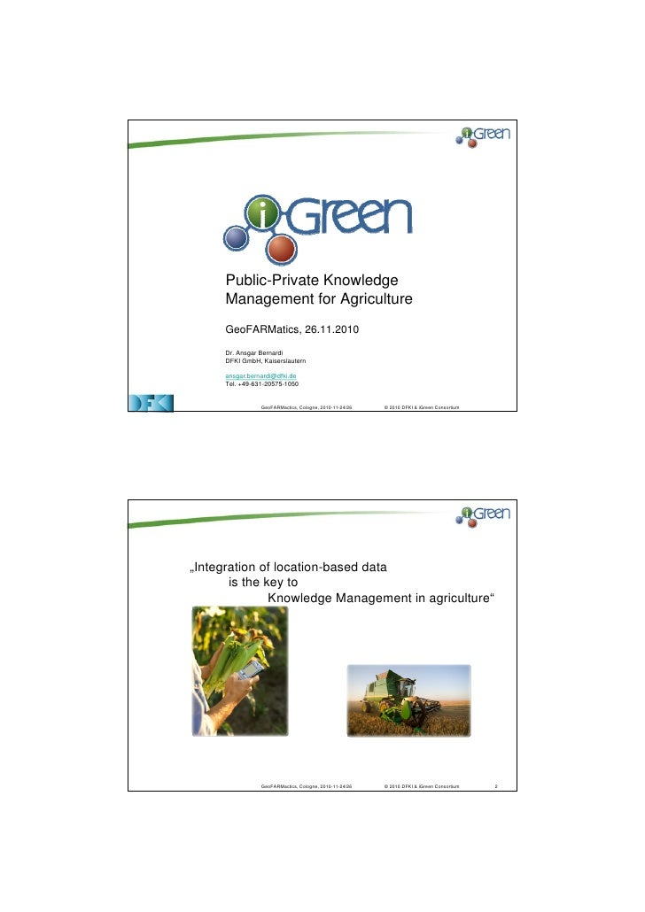 iGreen - Public Private Knowledge Management in Agriculture