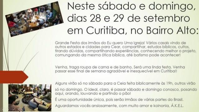 Igreja organica em Curitiba, no Bairro Alto