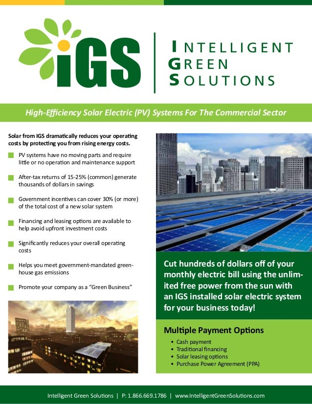 Igs Brochure Commercial Pv Solar Electric Systems
