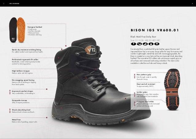 V12 E1300 DEFIANT IGS Work Boots Leather Composite Toe Cap Midsole Side Zip