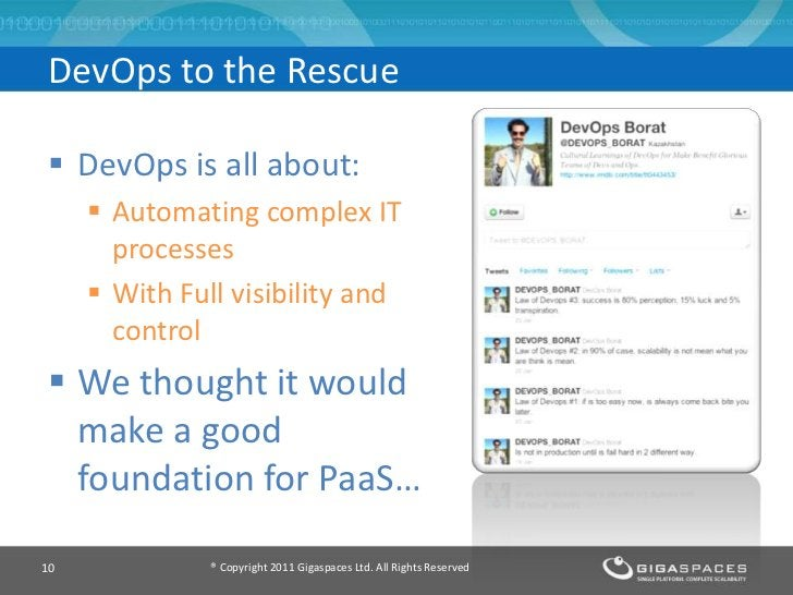 DevOps to the Rescue DevOps is all about:      Automating complex IT       processes      With Full visibility and     ...