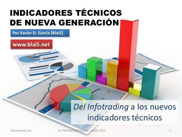INDICADORES TÉCNICOS DE NUEVA GENERACIÓN Del Infotrading a los nuevos indicadores técnicos Por Xavier D. García [Blai5] 1 ...