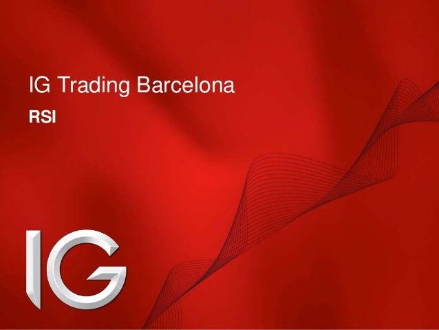 IG Trading Barcelona RSI