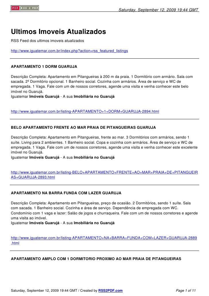 Saturday, September 12, 2009 19:44 GMT     Ultimos Imoveis Atualizados RSS Feed dos ultimos imoveis atualizados  http://ww...