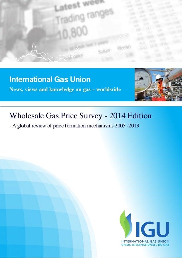 IGU - WHOLESAFE GAS PRICE FORMATION 2013 International Gas Union 1 Wholesale Gas Price Survey - 2014 Edition - A global re...
