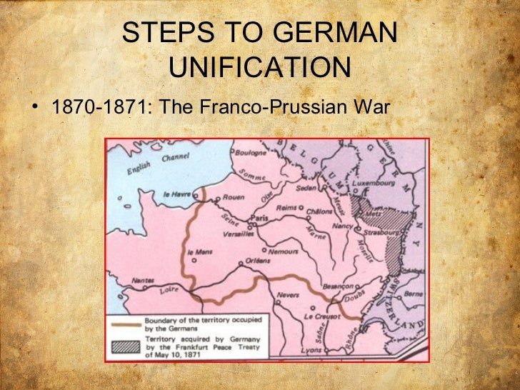 italian and german unification  german confederation dominated by prussia 32