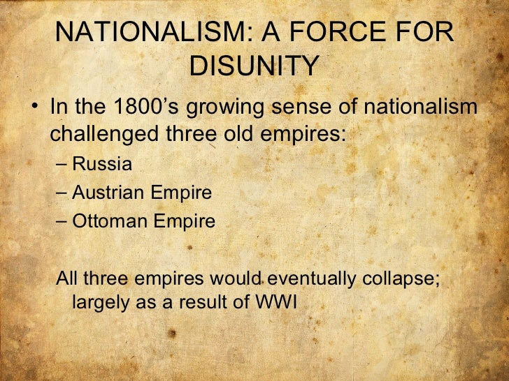 nationalism and the origins of the first world war essay The austrian government saw this as an opportunity to crush serbian nationalism  origins of the first world war  writeworkcom/essay/origins-first-world-war.