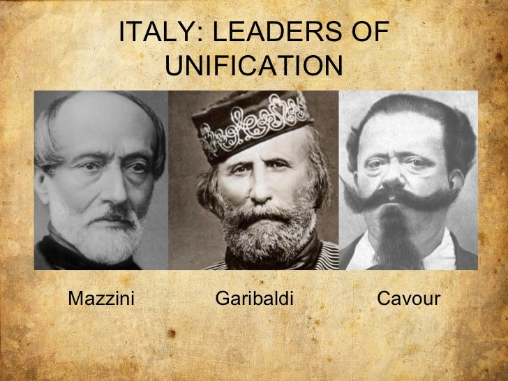 mazzini cavour garibaldi Machiavelli scenario cavour and garibaldi: a member of mazzini's young italy movement, garibaldi turned over his conquests to cavour and victor emmanuel ii in.