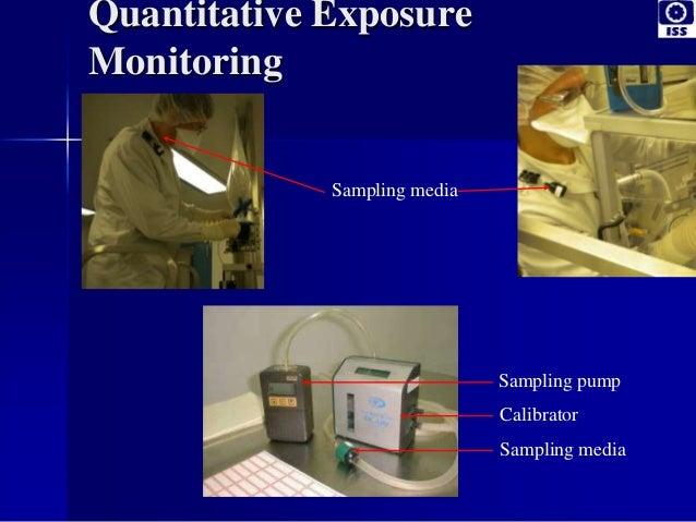 Quantitative Exposure Monitoring Sampling pump Sampling media Sampling media Calibrator