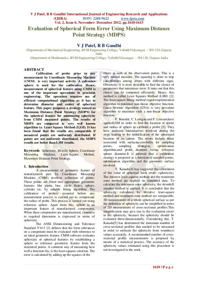 V J Patel, R B Gandhi/ International Journal of Engineering Research and Applications                    (IJERA)          ...