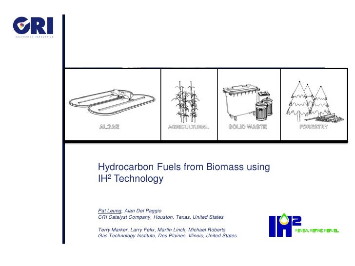 Hydrocarbon Fuels from Biomass usingIH2 TechnologyPat Leung, Alan Del PaggioCRI Catalyst Company, Houston, Texas, United S...