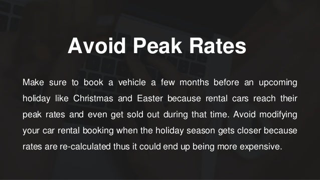 Time Cheaper When Returning Rental Car