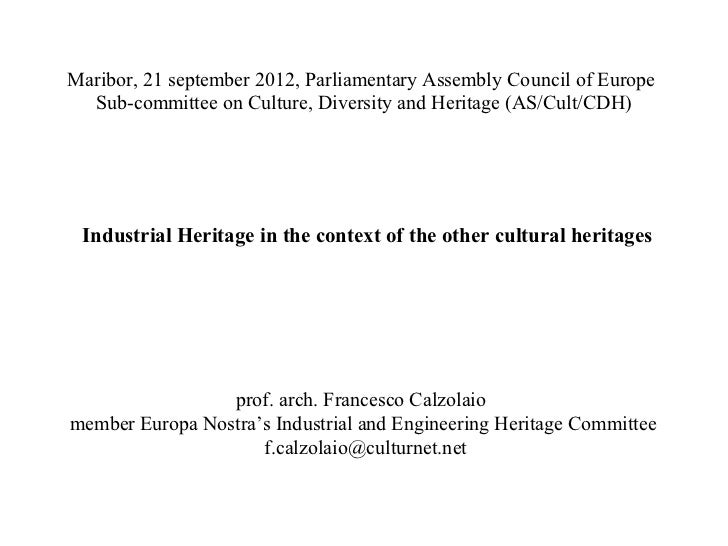 Maribor, 21 september 2012, Parliamentary Assembly Council of Europe  Sub-committee on Culture, Diversity and Heritage (AS...