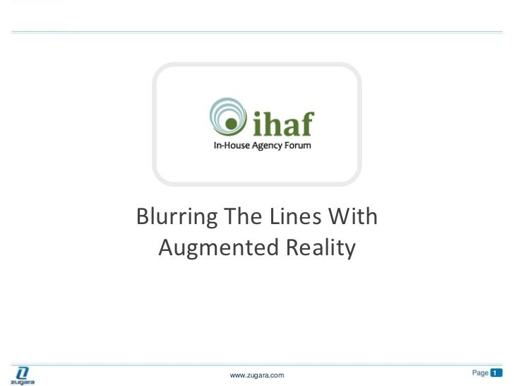 Blurring The Lines With Augmented Reality