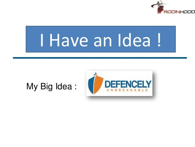 I Have an Idea !My Big Idea :