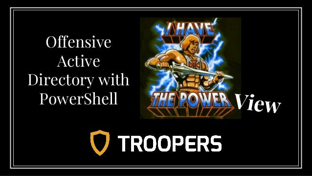 View Offensive Active Directory with PowerShell