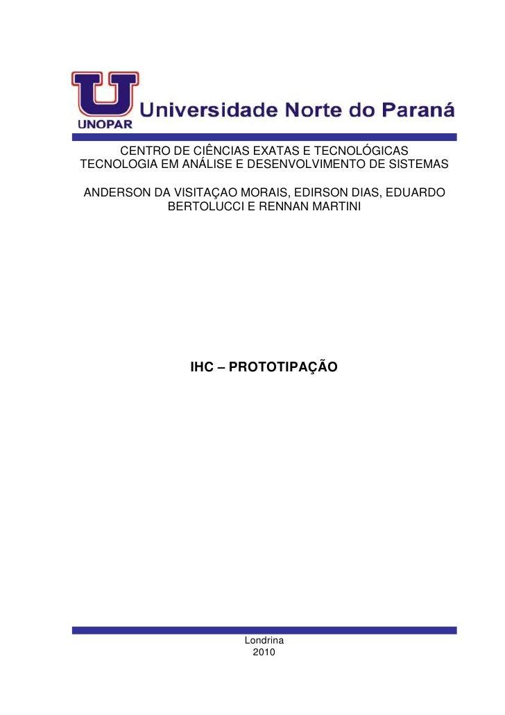 CENTRO DE CIÊNCIAS EXATAS E TECNOLÓGICASTECNOLOGIA EM ANÁLISE E DESENVOLVIMENTO DE SISTEMASANDERSON DA VISITAÇÃO MORAIS, E...