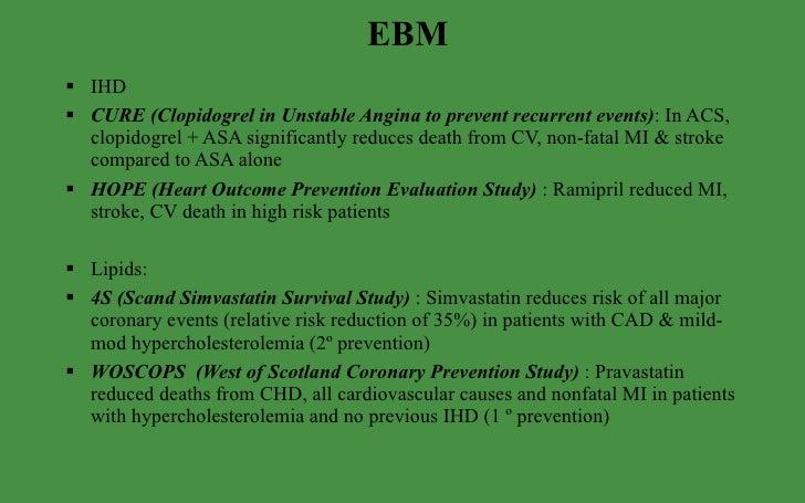 Cure study clopidogrel