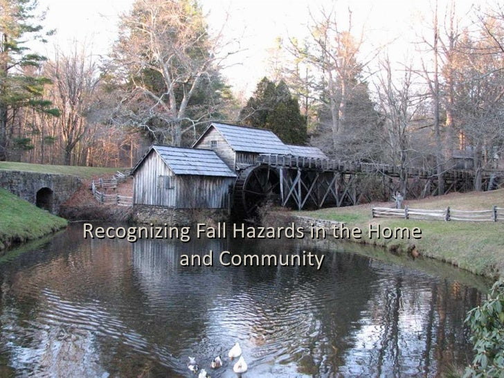 Recognizing Fall Hazards in the Home and Community