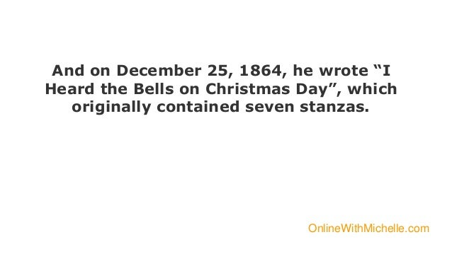 I Heard The Bells On Christmas Day Lyrics.I Heard The Bells On Christmas Day Background Story