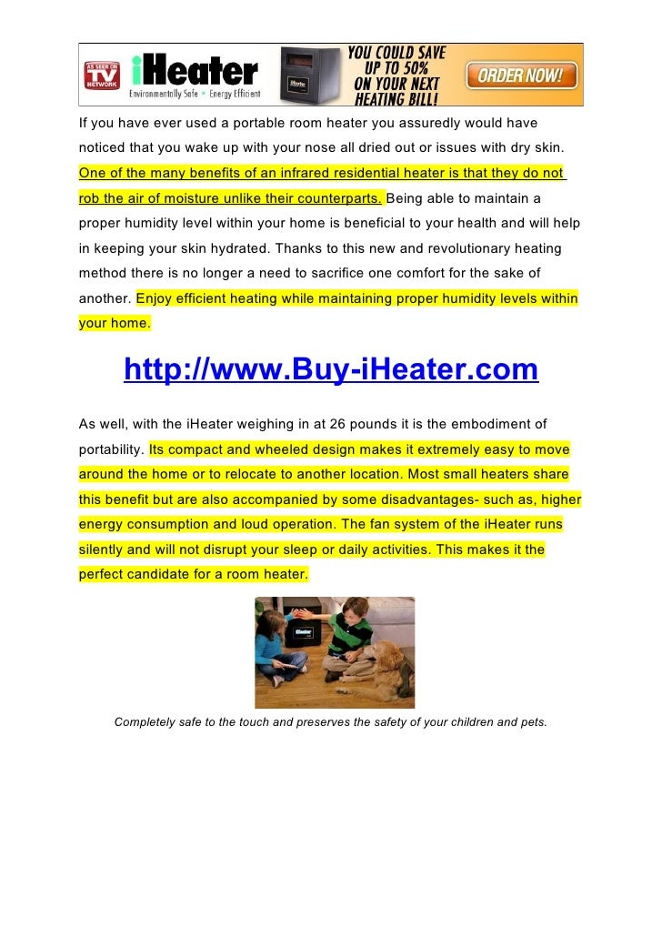 iheater the infrared heater that safeguards your home and your heal