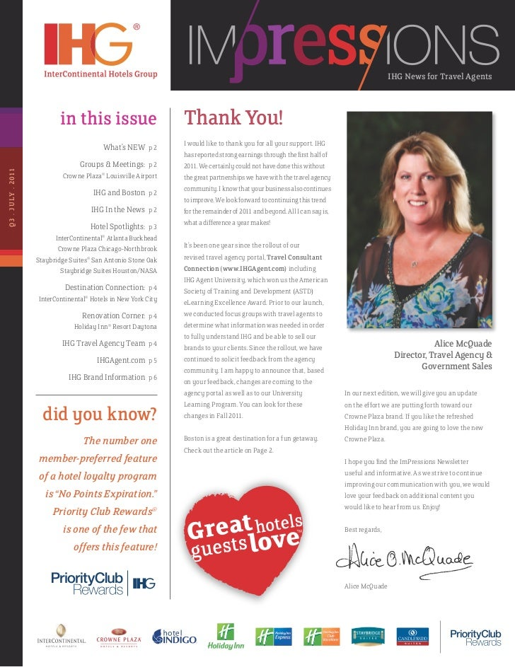 IHG News for Travel Agents                            in this issue                        Thank You!                     ...