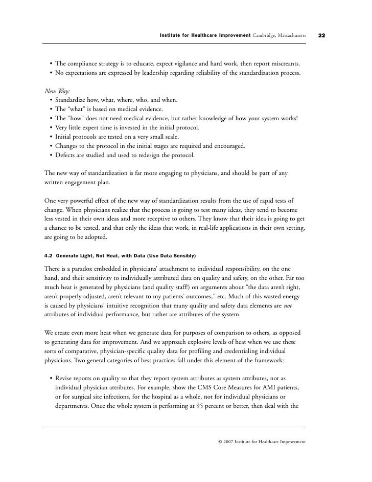 ihi white paper This white paper describes the difference between two  from safety-i to safety-ii: a white paper  institute for healthcare improvement september.