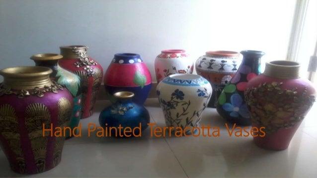 Hand Painted Terracotta Vases