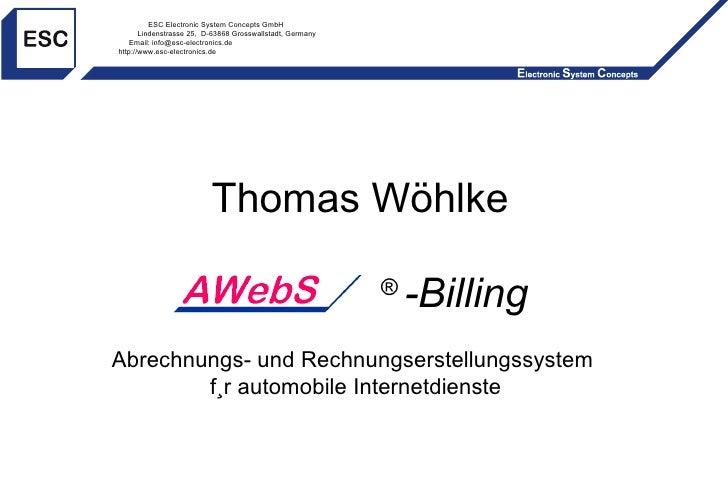 ESC Electronic System Concepts GmbH Lindenstrasse 25,  D-63868 Grosswallstadt, Germany Email: info@esc-electronics.de http...