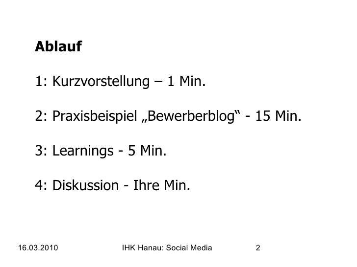 IHK Hanau - Social Media für KMUs Slide 2