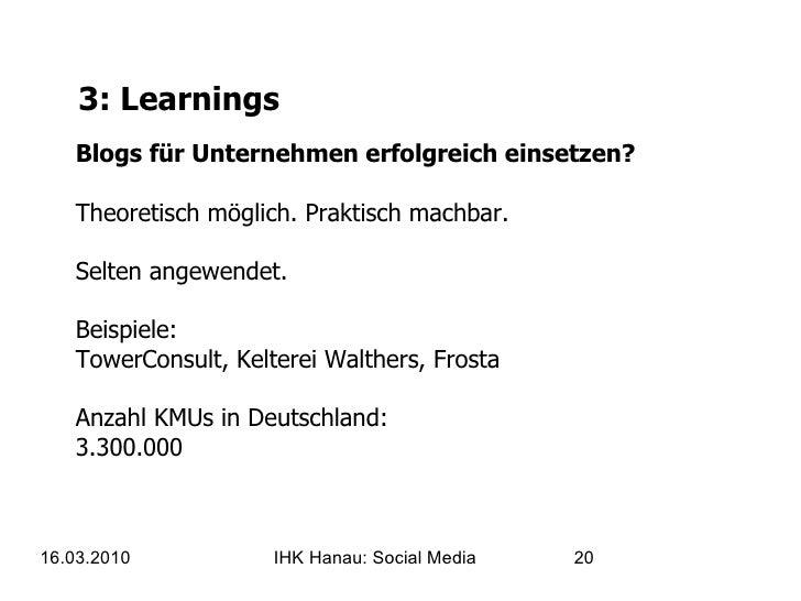 3: Learnings Blogs für Unternehmen erfolgreich einsetzen? Theoretisch möglich. Praktisch machbar. Selten angewendet. Beisp...
