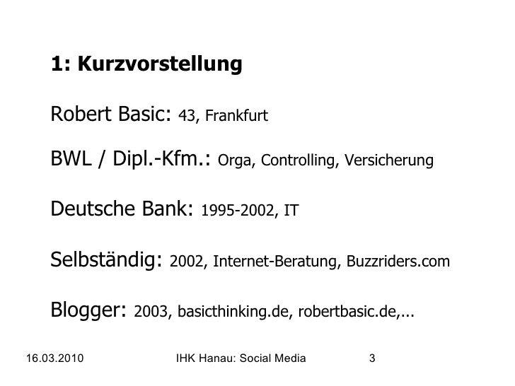 IHK Hanau - Social Media für KMUs Slide 3