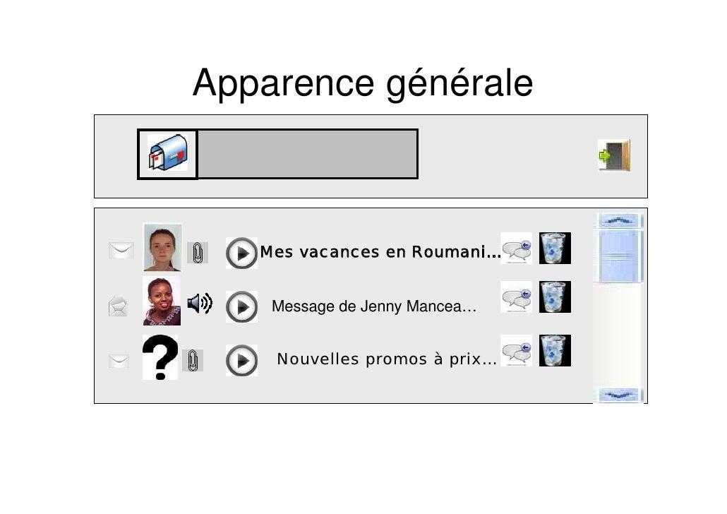 Apparence générale       Mes vacances en Roumani…       Message de Jenny Mancea…       Nouvelles promos à prix…