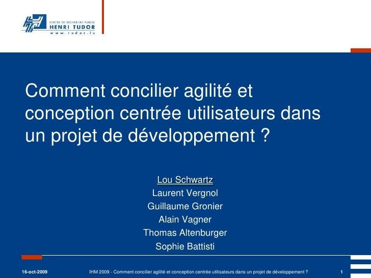 Comment concilier agilité et conception centrée utilisateurs dans un projet de développement ?