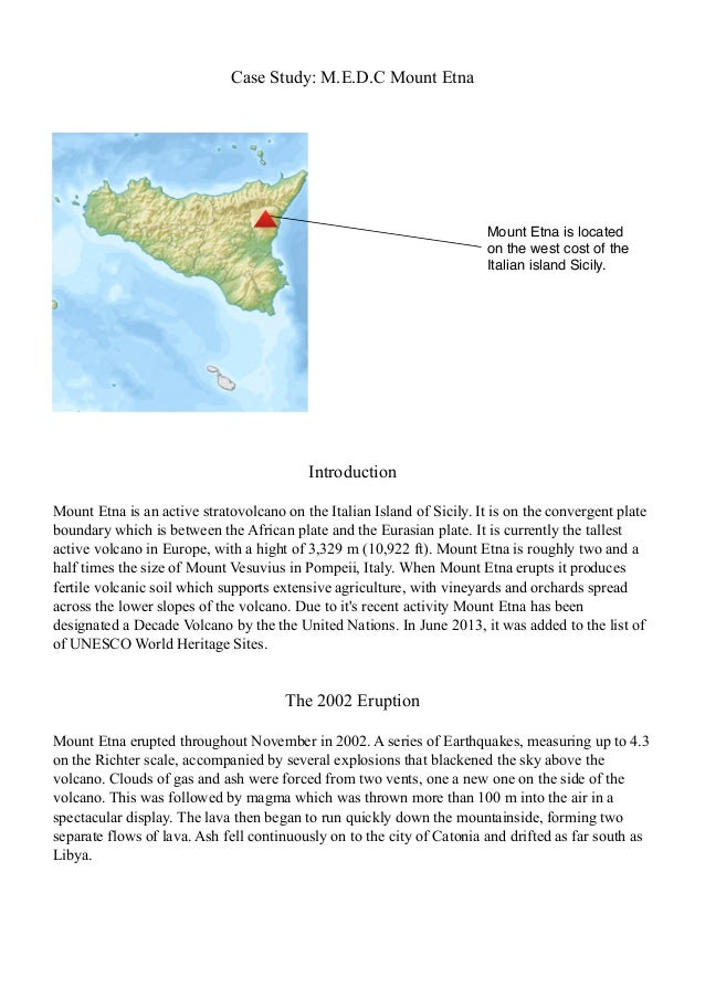 medc volcano case study mt etna