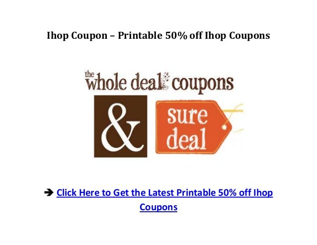 photo about Ihop Printable Coupons identify Ihop Coupon Printable 50% off Ihop Discount codes