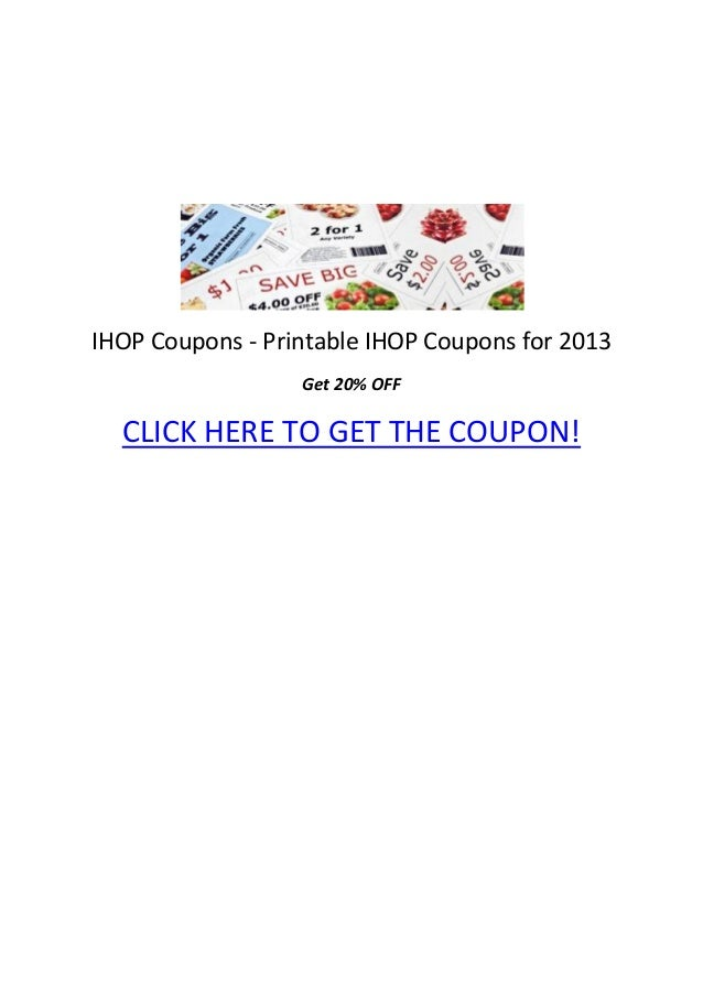 ihop coupons printable ihop coupons for 2013