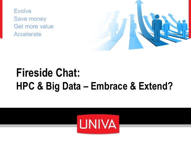 Fireside Chat:HPC & Big Data – Embrace & Extend?EvolveSave moneyGet more valueAccelerate