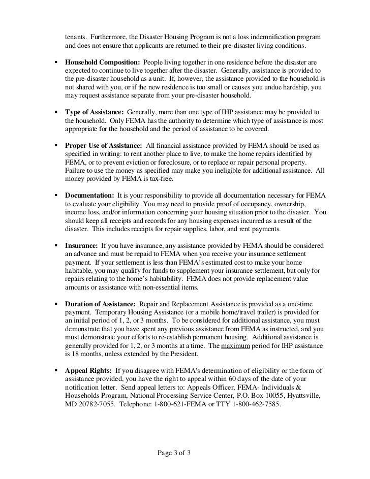 Fema appeal letter example pinephandshakeapp fema appeal letter example thecheapjerseys Image collections