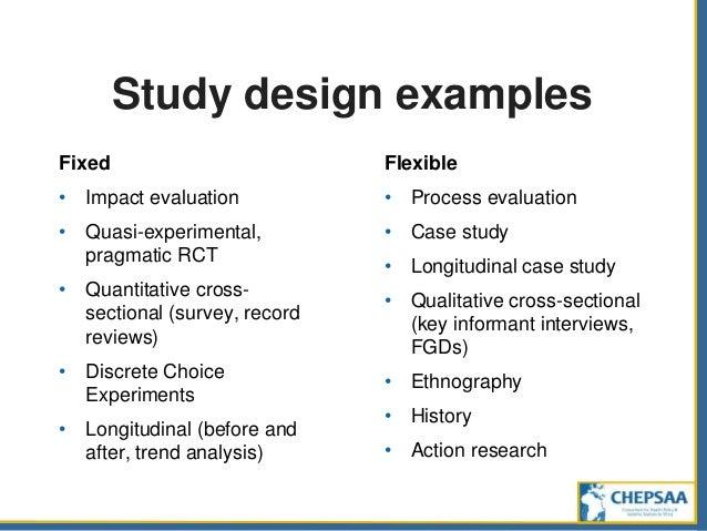 sampling methods for quasi experimental design