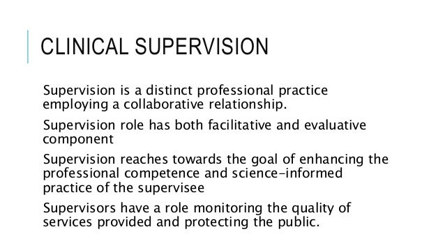clinical supervision dissertation Unlv theses, dissertations, professional papers, and capstones 2009 principals' and teachers' perceptions of teacher supervision rebecca margaret minnear-peplinski.