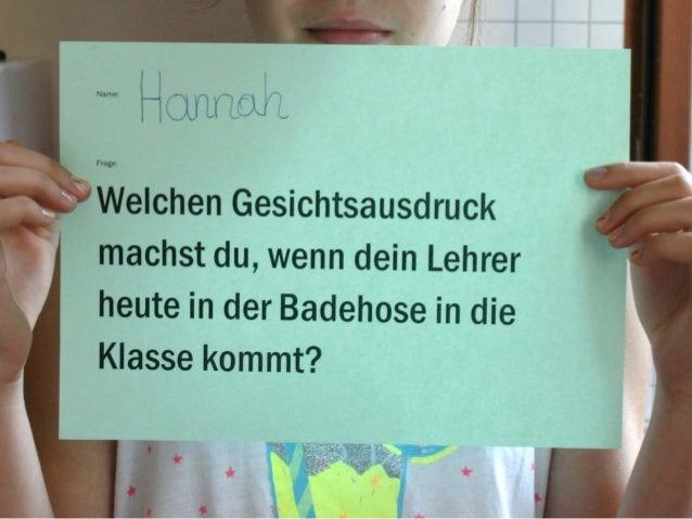 """""""Ihr schafft mich"""": Das Interview ohne Worte"""